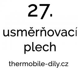 27. Usměrňovací plech