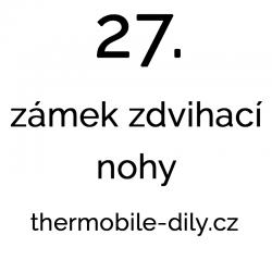 27. Zámek zdvihací nohy-...