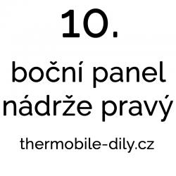 10. Boční panel nádrže...