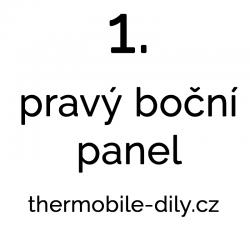 1. Pravý boční panel- na...