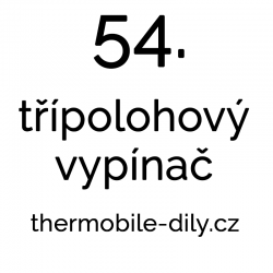 54. Třípolohový vypínač